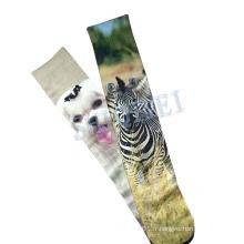 Personnalisés de chaussettes chaleur Polyester transfert Sublimation impression animale