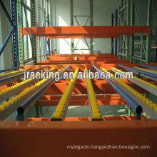 Carton live storage rack,Metal hanging storage carton flow racking