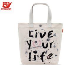 Promotional Logo Printed Custom Canvas Cotton Tote Bag