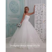 Популярные богатые аппликация кружева Милая свадебное платье