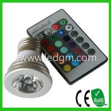 Bridgelux чип Светодиодные лампы лампа E27 3W RGB светодиодные прожекторы