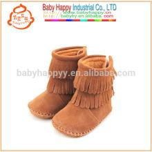 Chaussures de bébé Mocassins en cuir Bottes bébé cheville de haute qualité