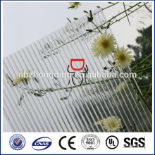 UV покрынные две ясный лист поликарбоната стены