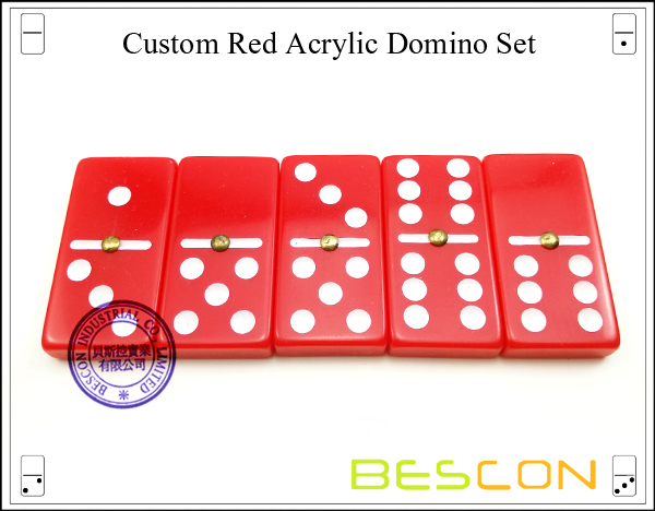 Red Acrylic Domino Set-4