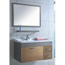 Hangzhou Popular Mirrored Cabinet Stainless Steel Ceramic Basin Bathroom Vanity