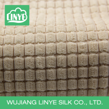 Tecido de poliéster de poliéster e de microfibra de pelúcia para cobertura de almofadas de sofá