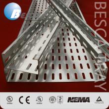 Sistema de apoio perfurado galvanizado da bandeja de cabo do mergulho quente (UL, IEC, CE, ISO)