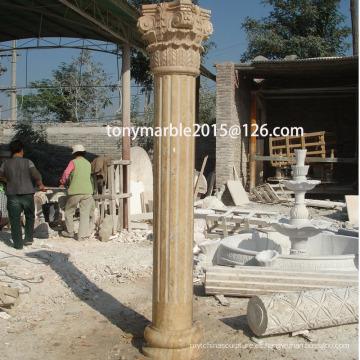 Columna de escultura de piedra beige (SY-C001)
