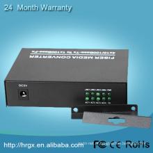 1 porto rj45 do porto 4 da fibra, único conversor dos meios da fibra RX / TX com 2 portos ethernet