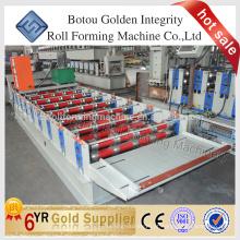 Máquina ondulatória e trapezoidal de laminação de folha de cobertura, Máquina de fabricação de chapas de aço.