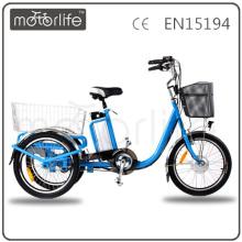 MOTORLIFE / OEM marque EN15194 36 v 250 w vélo électrique 3 roues, cargo électrique trois roues