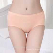 Venta al por mayor fabricante de China mujeres maduras sexy bragas puras mujeres de algodón sin costura bragas fotos ropa interior de alta calidad de las mujeres