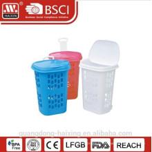 Plastique rond panier panier à linge/lessive avec wheels(49L)
