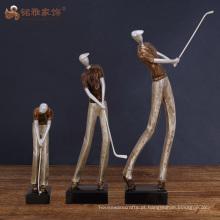 Ornamento de resina ornamento estatueta humana para decoração de presentes