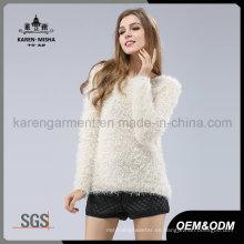 Jersey largo de piel de invierno suave de alta calidad