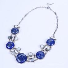 Новый дизайн Ляпис-лазурь сплава ожерелье