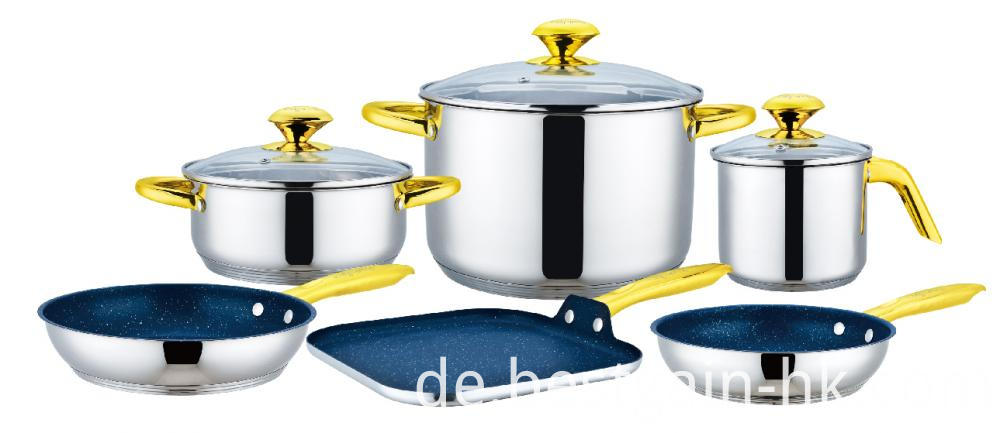 Cookware Set with Square Griddle