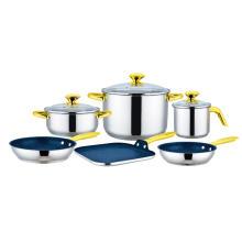 9-teiliges Kochgeschirr-Set mit quadratischer Grillplatte