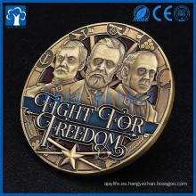 2017 regalos y artesanías en relieve metal moneda 3D