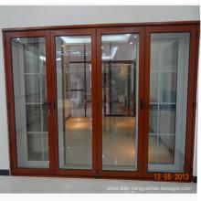 Commerical price simple design bi folding interior door