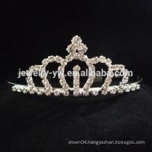 fashion metal silver palted full crystal daisy flower crown headband