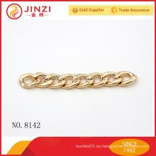 Cadena del metal de los accesorios del bolso de la cadena del anillo de la manera del OEM