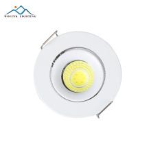 Cheap price Warm White Recessed commercial aluminium cob led spotlight 3w