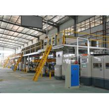 Wj-150-1600-II Linha de produção de papelão ondulado de 5 camadas
