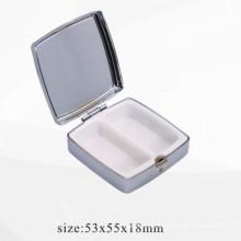 Caja de la píldora del metal / caja de almacenaje inoxidables del metal (BOX-24)