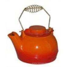Enamel Cast Iron Tea Pot
