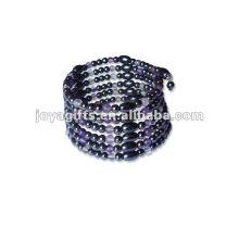 "Magnetic Amethyst Beaded Wrap Bracelets & Collier 36 """