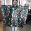 Outdoor PVC Military Camouflage Rain Poncho