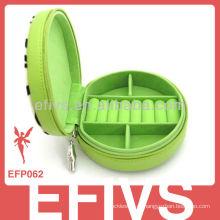 Colorized oval em forma de caixa de jóias decorativas por atacado para anéis