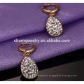 Rhinestones de gota de lujo de estilo nuevo Pendientes de acero inoxidable Stud ZZE019