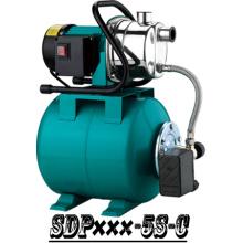 (SDP800-5S-C) Jardim de escorvamento automático bomba de impulsionador do jato com tanque de aço