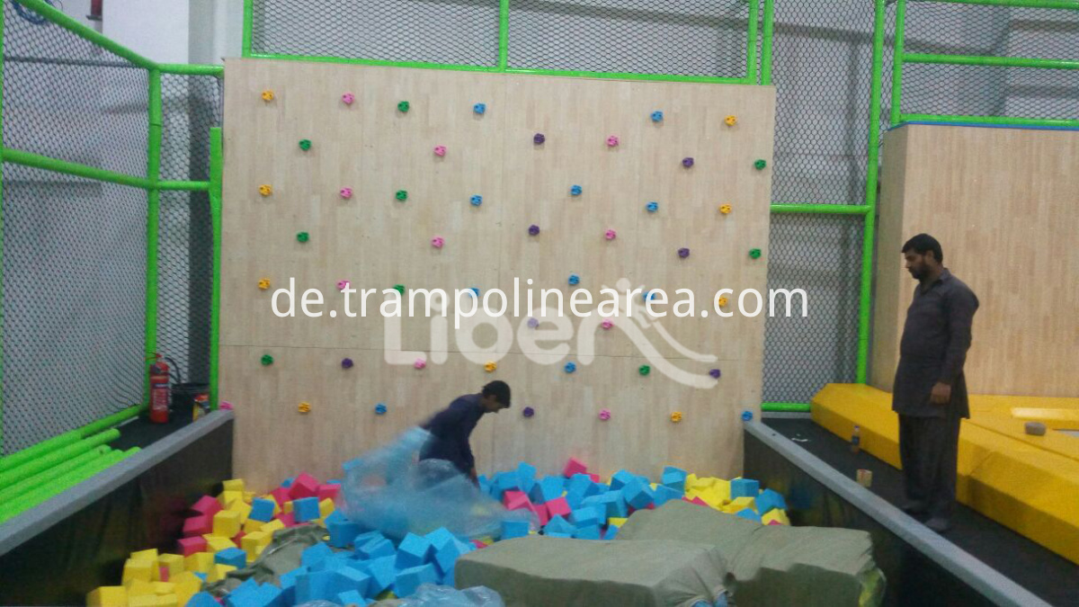 large trampoline indoor