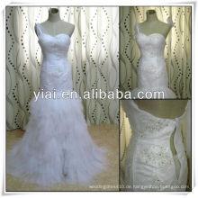 JJ2797 Elgant Tulle Split Front Meerjungfrau Rulle Hochzeit Kleid