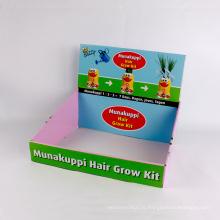 Impression personnalisée Boîtes en papier coloré compteur Display Box