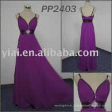 PP2403 Floor Length Real Sample beaded chiffon evening Gown 2013