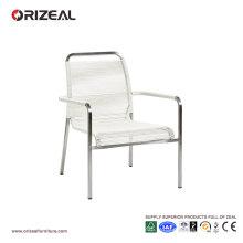 Chaise longue en plein air avec tissage rond en PVC OZ-OR048
