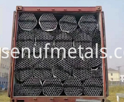 round pipe loading by container