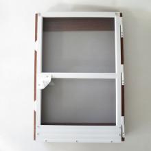 Moustiquaire équipée de portes intérieures et extérieures