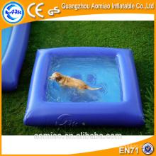Piscina inflável por atacado barata com pato, flutuador inflável da associação do cão