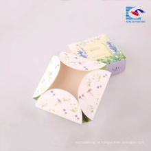 Papel de arte de impressão de alta qualidade de cor brilhante caixa de papel de impressão de sabão preto sem cola