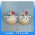 Good quality ceramic cock toothpick holder for kitchen