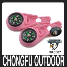Chongfu outdoor rosa bebê zíper clipes para paracord