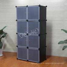 8 Cube Wardrobe con cuerpo de color negro (FH-AL0030-8)