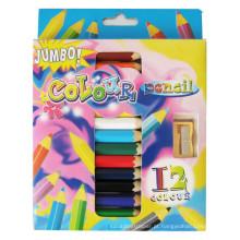 arte infantil coloful conjunto de lápis de cor Jumbo