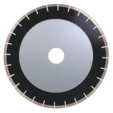 Lâmina de serra para corte de diamante e mármore de nova tecnologia (corpo silencioso, segmentos em forma de leque)