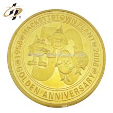 Nouveau design votre propre logo personnalisé pièce d'or en métal jouet souvenir pièce avec boîte acrylique